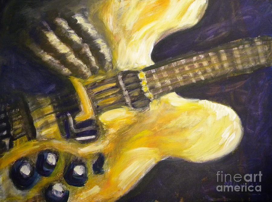 Guitar Painting - Purple Haze by JoAnn Wheeler
