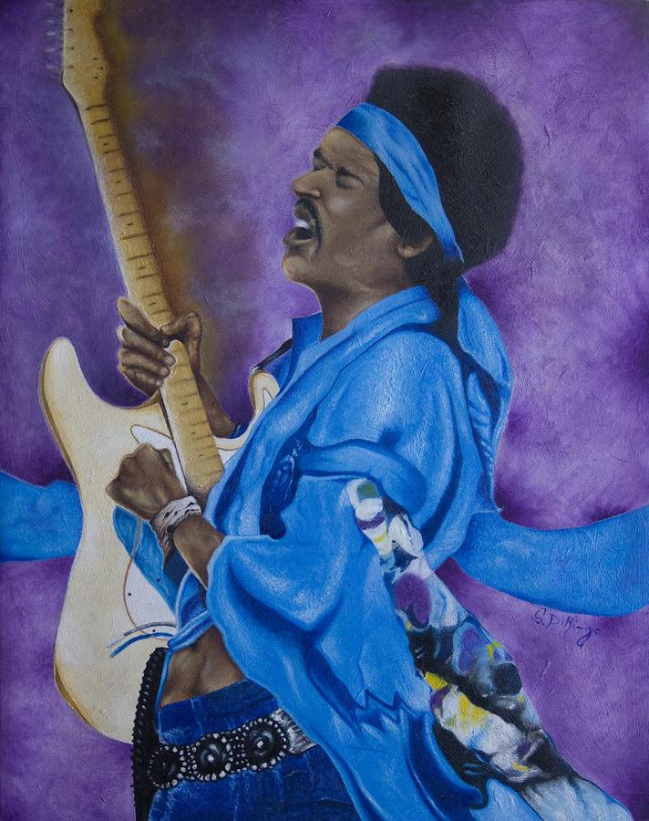 Portraiture Painting - Purple Haze by Stephen J DiRienzo