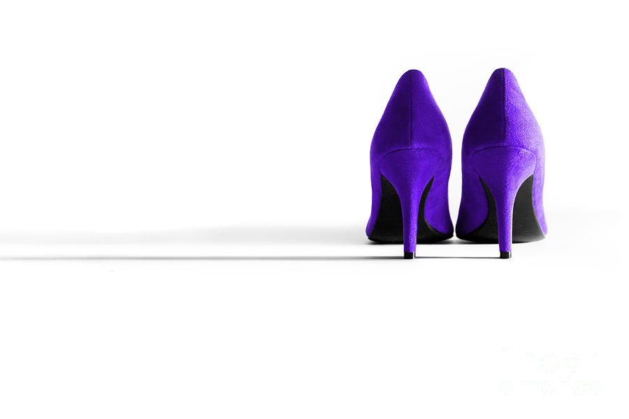 Shoe Photograph - Purple High Heel Shoes by Natalie Kinnear