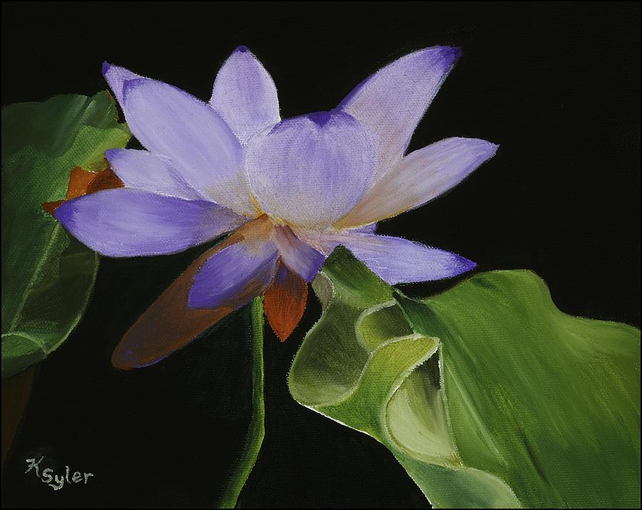 Lotus Painting - Purple Lotus by Karen  Syler