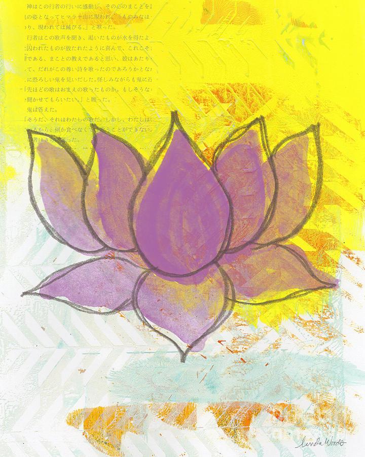 Purple Lotus Painting