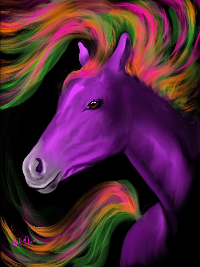 Horse Digital Art - Purple Majesty by Billie Jo Ellis