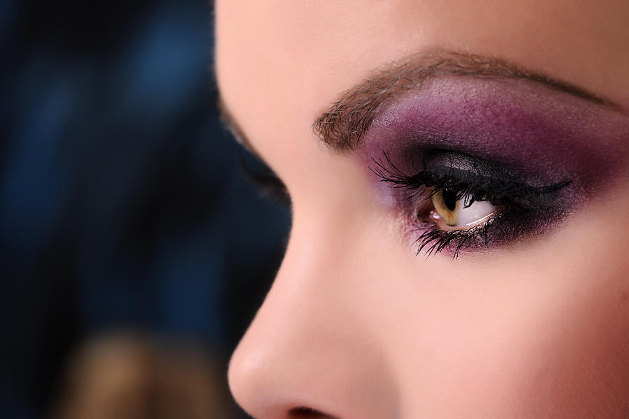 Purple Makeup Photograph by Stock_colors