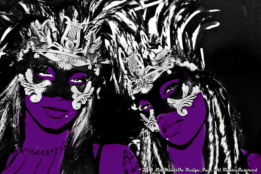Two Photograph - Purple Mask by Ley Clarie Gray