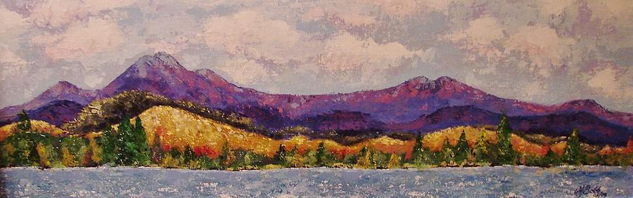 Mountain Painting - Purple Mountain Majesty by Margaret Bobb