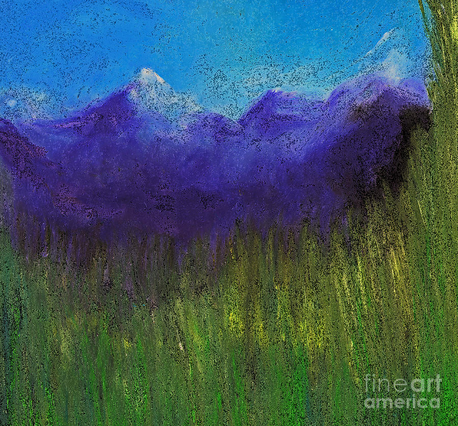 First Star Art By Jrr Painting - Purple Mountains By Jrr by First Star Art