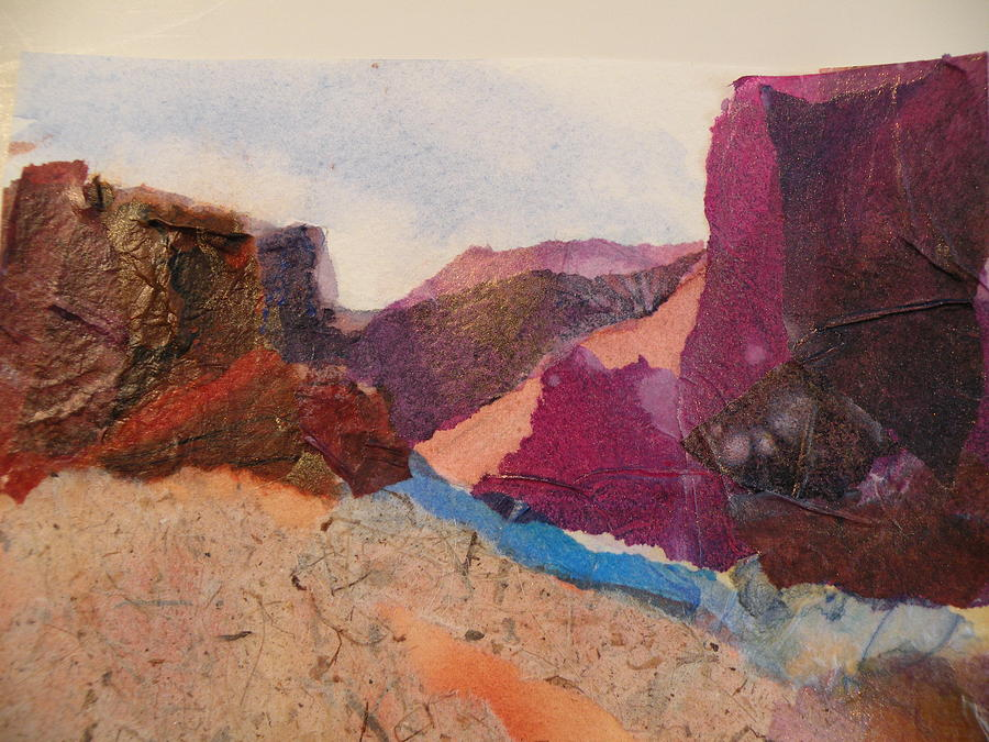 Mountains Painting - Purple Mountains by Lori Chase