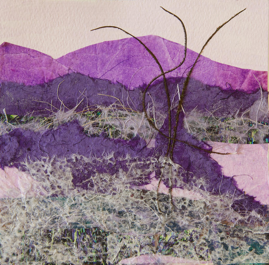 Purple Mixed Media - Purple Mountains by Pamela Ramey Tatum