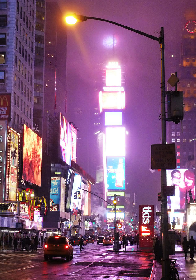 Times Square Photograph - Purple Nights by Christine Burdine