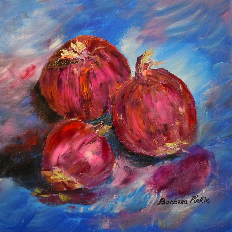Purple Painting - Purple Onions by Barbara Pirkle