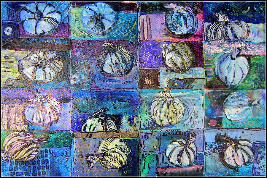 Vegetable Painting - Purple Onions by Mindy Newman