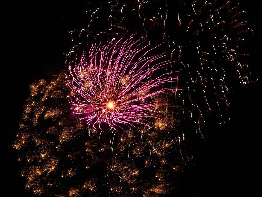 Fireworks Photograph - Purple Orbit by Aimee L Maher Photography and Art Visit ALMGallerydotcom