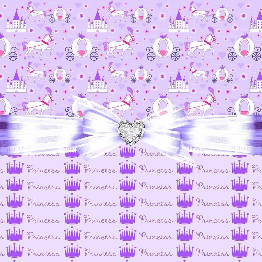 Princess Crown Digital Art - Purple Passion Princess  by Debra  Miller