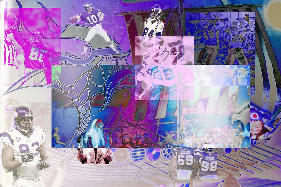 Minnesota Vikings Digital Art - Purple People Eaters by Jimi Bush