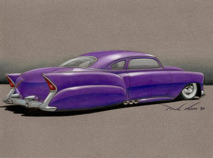 Purple Pleaser Power Drawing by Paul Kim