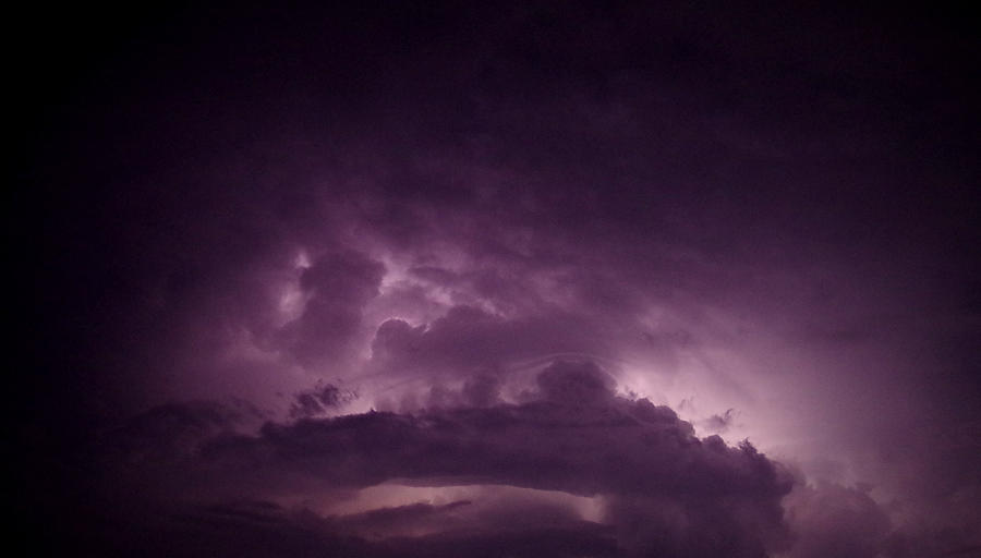Thunderstorm Photograph - Purple Rage by Jessica Yudis