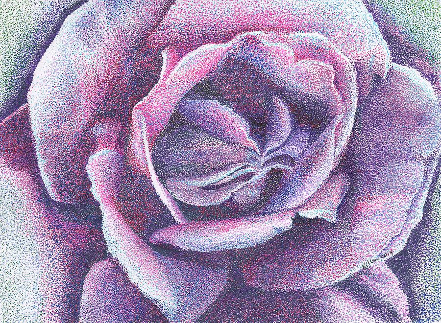 Modern Painting - Purple Rose 2-14 by William Killen