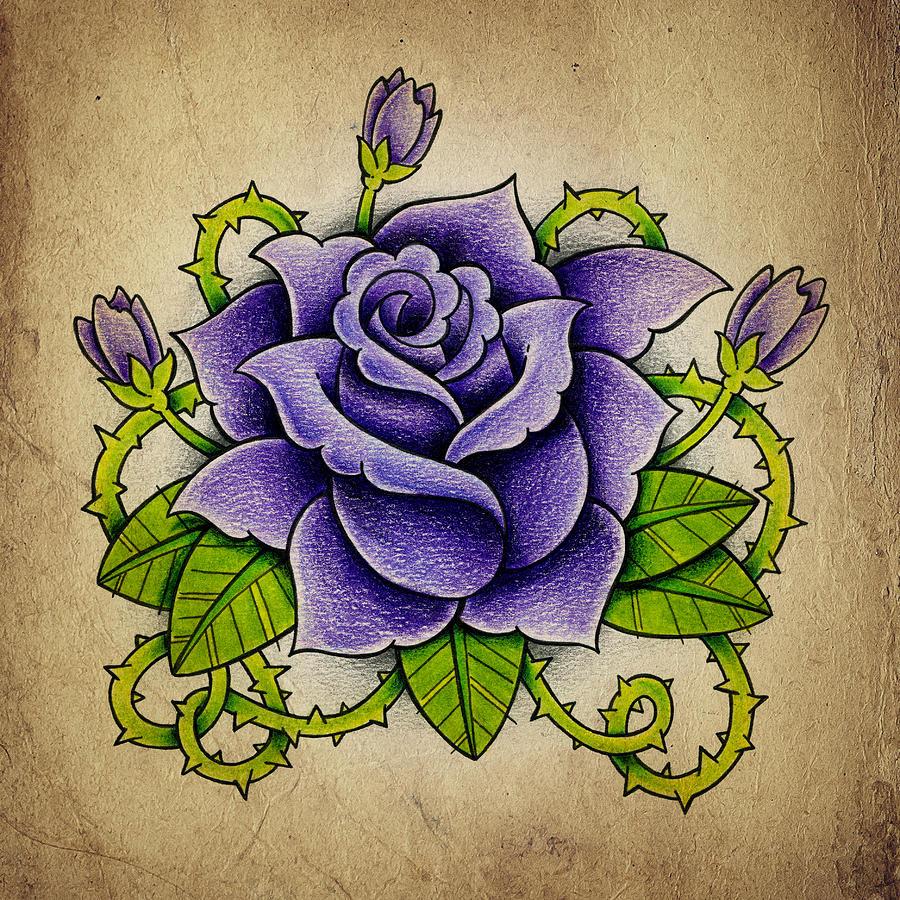 Purple Rose Photograph By Samuel Whitton