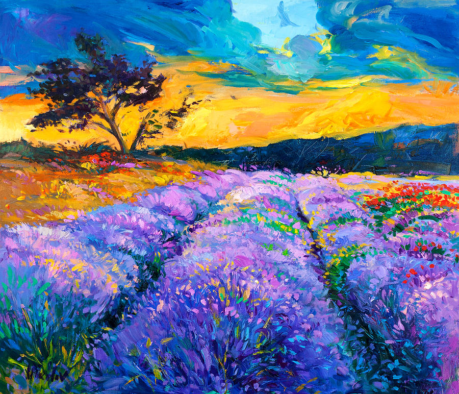 Oil Painting - Purple Scene by Ivailo Nikolov