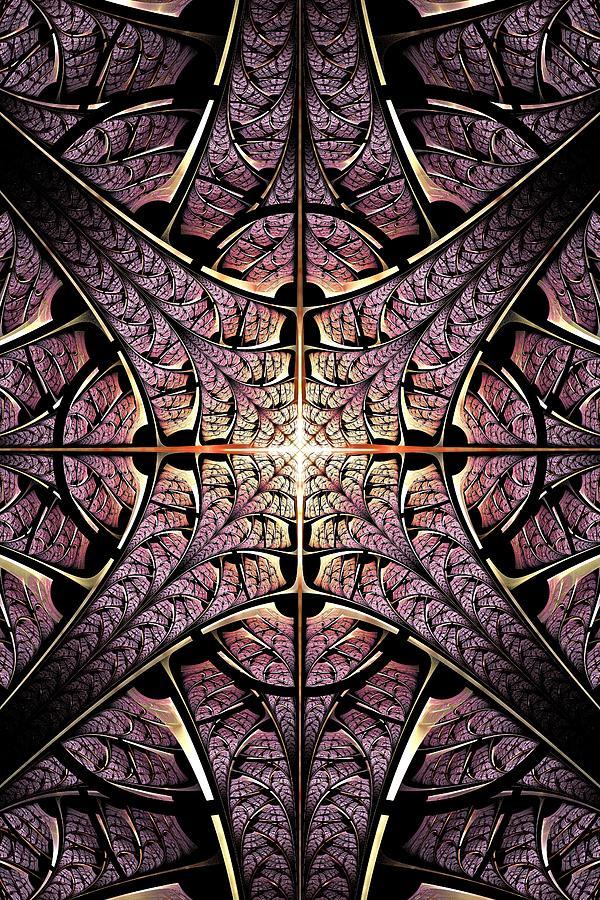 Malakhova Digital Art - Purple Shield by Anastasiya Malakhova