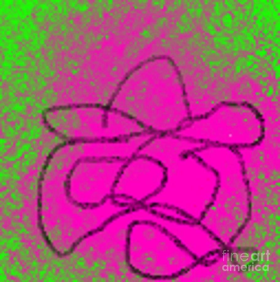 Art By James Eye Digital Art - Purple Sleeping Cowboy by James Eye
