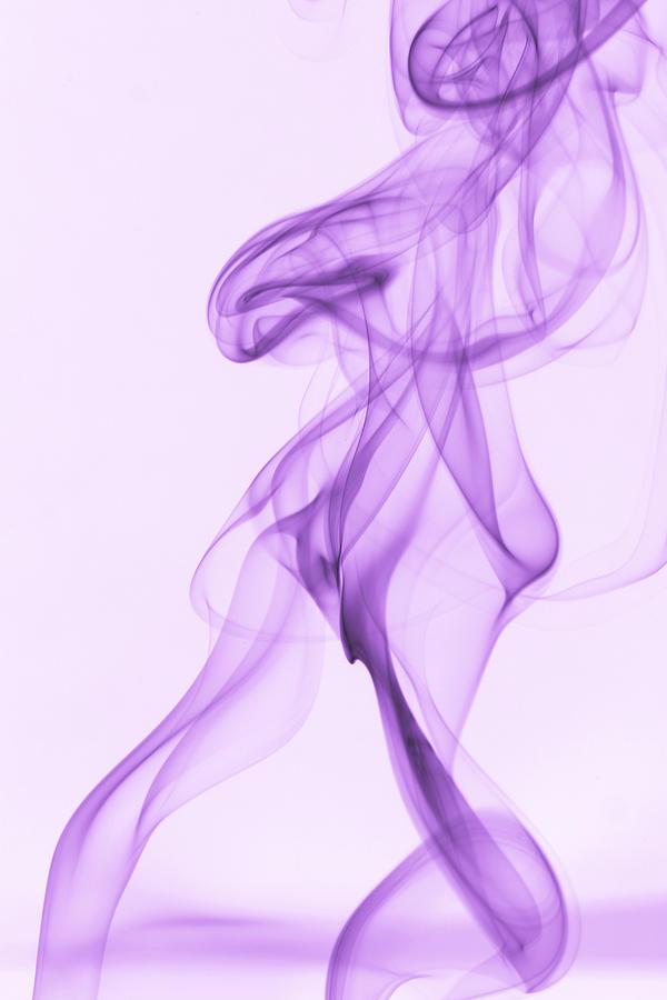 Purple Photograph - Purple Smoke by Andy Van der motte