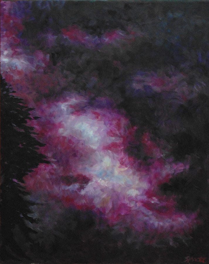 Skyscape Painting - Purple Storm by Susan Moore