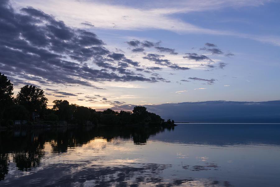 Purple Sunrise Photograph - Purple Sunrise Clouds by Georgia Mizuleva