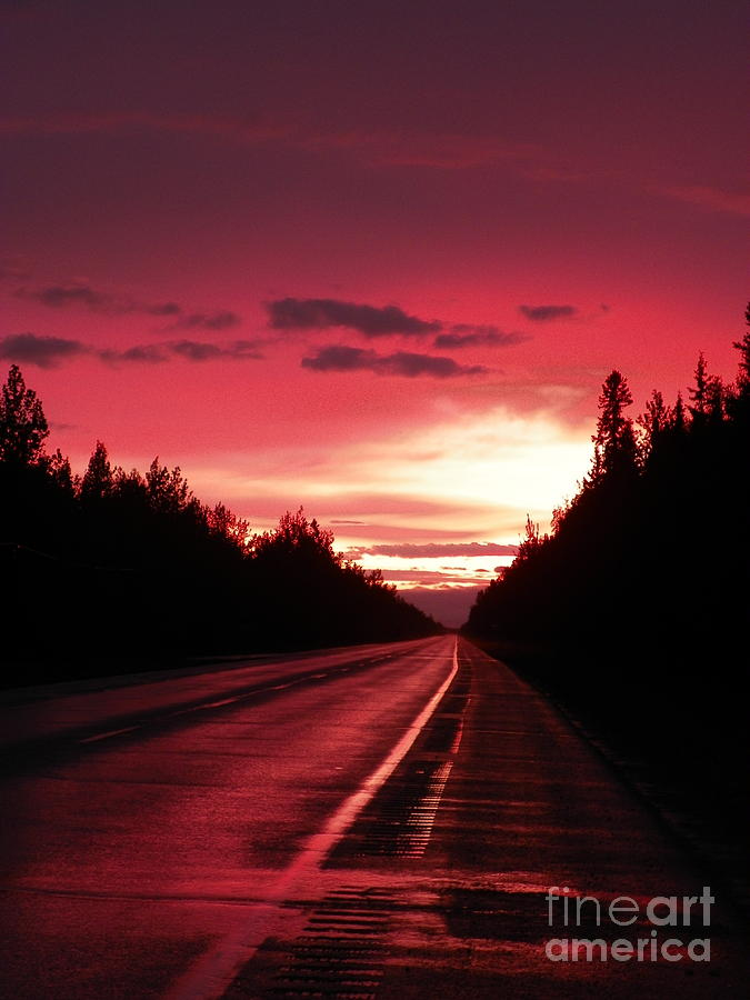 Alaska Photograph - Purple Sunset by Jennifer Kimberly