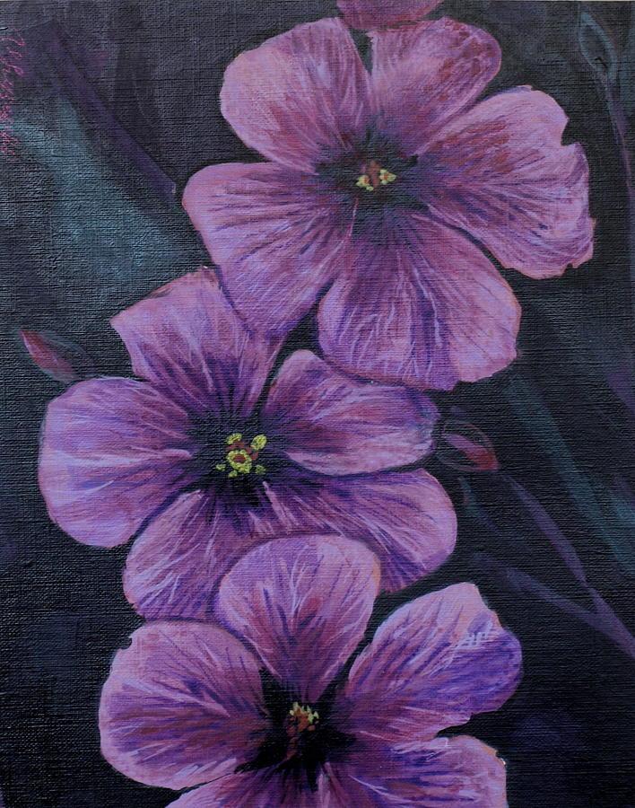 Flowers Painting - Purple by Vera Lysenko