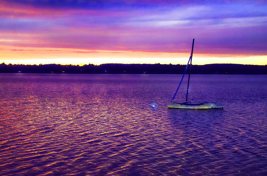 Purple Waters  Photograph by Cindy Greenstein