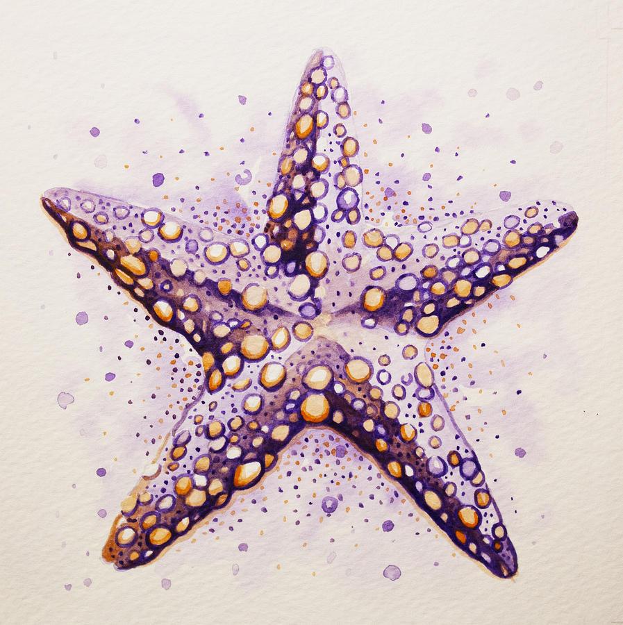 purpura starfish painting by william love