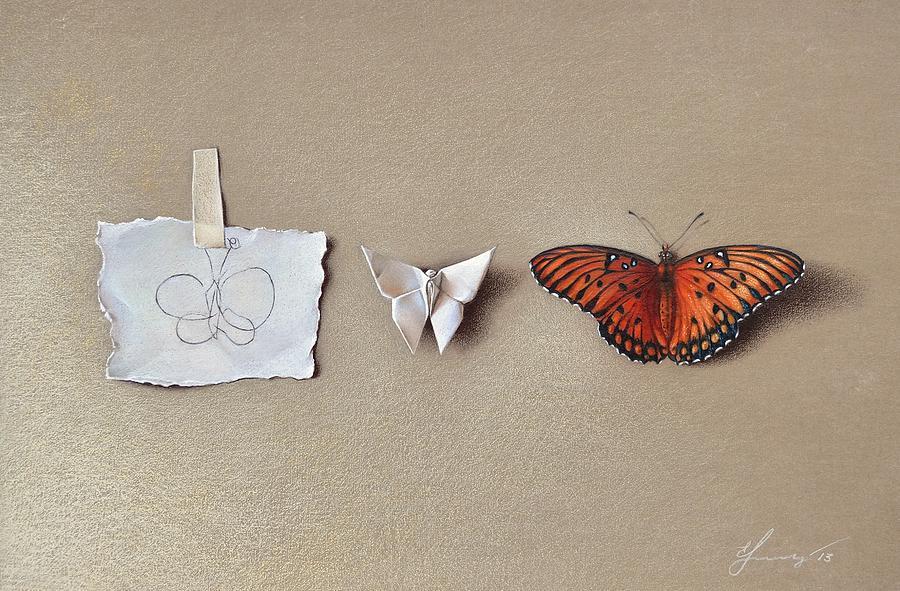 Symbolic Drawing - Pursuit Of A Dream by Elena Kolotusha