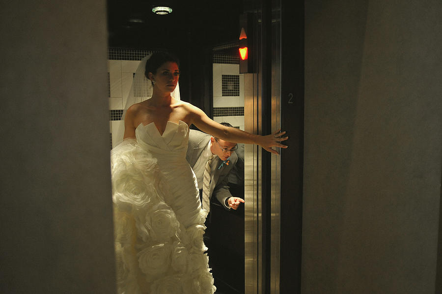Bride Photograph - Push The Button by Mike Hope