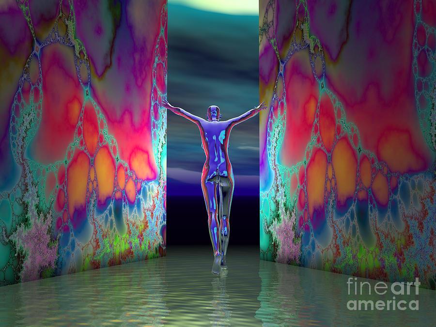 Pushing Boundaries Digital Art by Sandra Bauser Digital Art