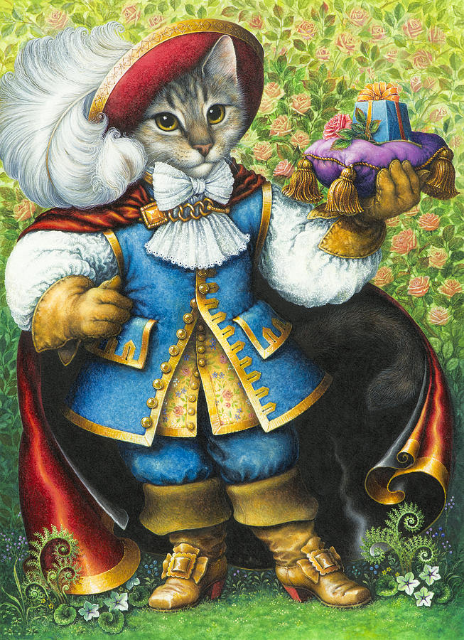 Puss In Boots Painting By Lynn Bywaters