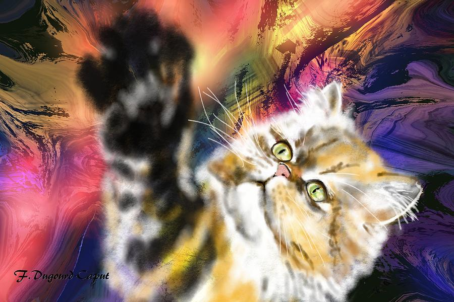 Abstract Painting - Pussy by Francoise Dugourd-Caput