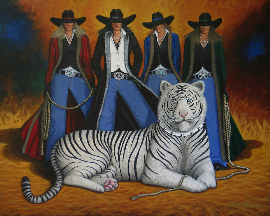 Tiger Painting - Pussycat Dolls by Lance Headlee