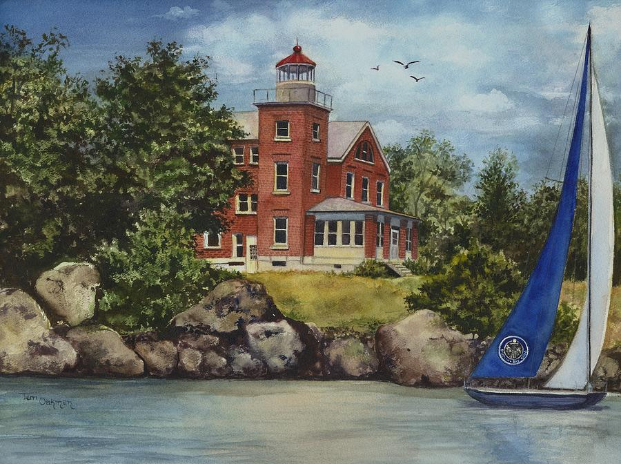 Put-in-bay Lighthouse Painting by Terri  Meyer