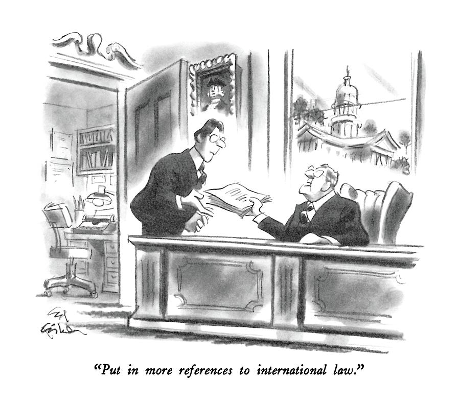 Put In More References To International Law Drawing by Ed Fisher