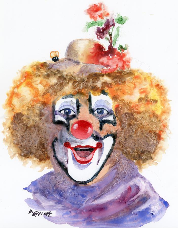 Happy Painting - Put On A Happy Face by Marsha Elliott