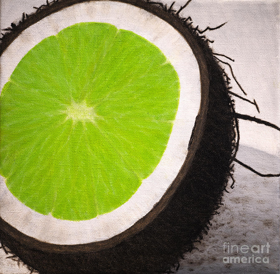 Fruit Painting - Put The Lime In The Coconut by Philip G