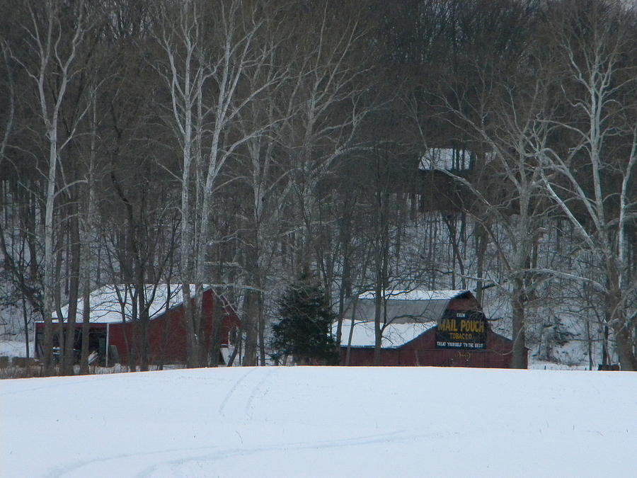 Snow Photograph - Putnam County Farm in Winter by Helen ONeal