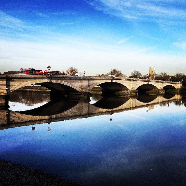 Putney Bridge Photograph - Putney Bridge 2014 by Geoff Pestell