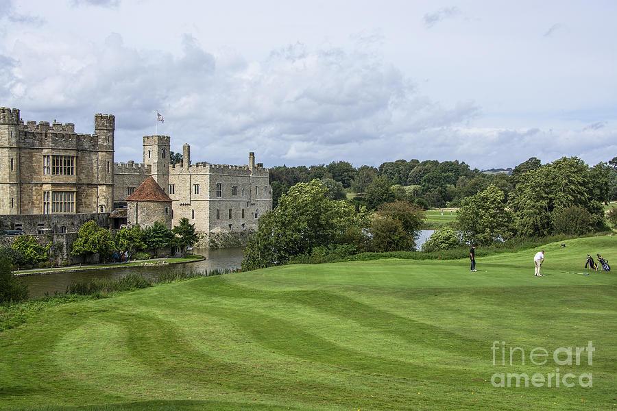 Putting At Leeds Castle Golf Course Photograph