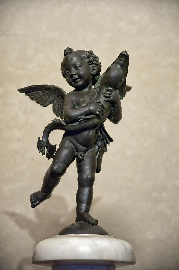 Attitude Photograph - Putto With Dolphin By Verrocchio by Melany Sarafis