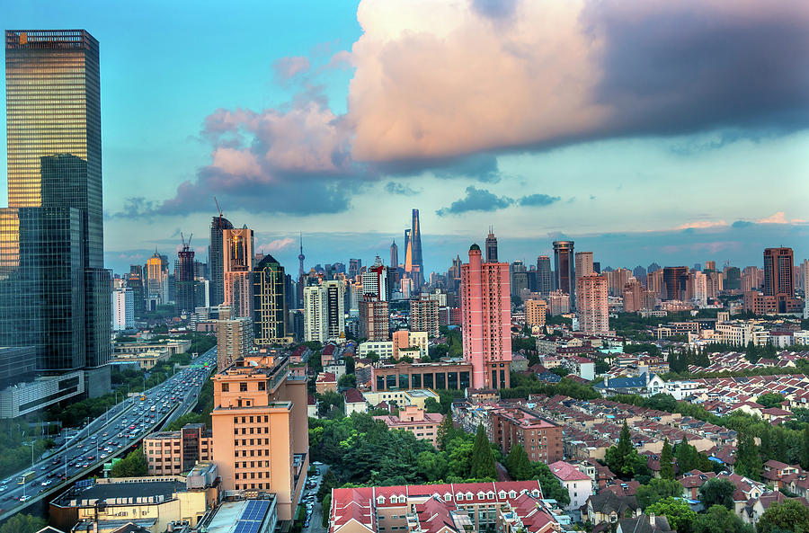 Apartment Photograph - Puxi Pudong Buildings World Modern by William Perry