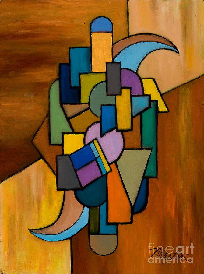 Abstract Painting - Puzzle IIi by Larry Martin