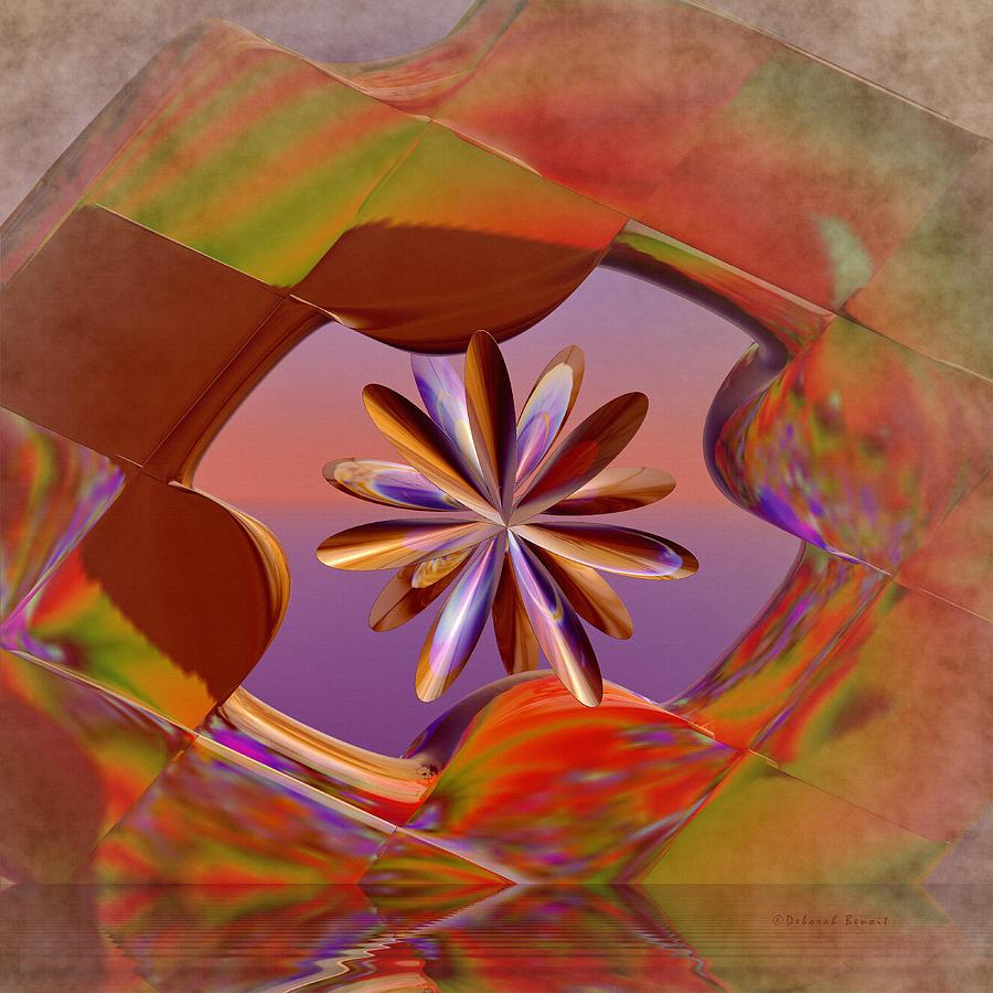 Geometric Digital Art - Puzzle Of Life by Deborah Benoit