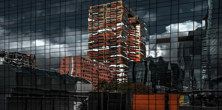 Architecture Photograph - Puzzle Reflection by Gilbert Claes